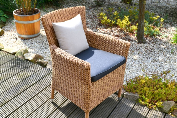 Sessel Lyon; beige braun mit Sitzpolster