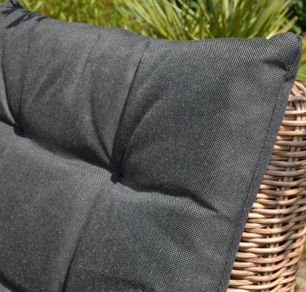 1x Sitz- und Rückenpolster für Sessel Garnitur Como/Capri in schwarz