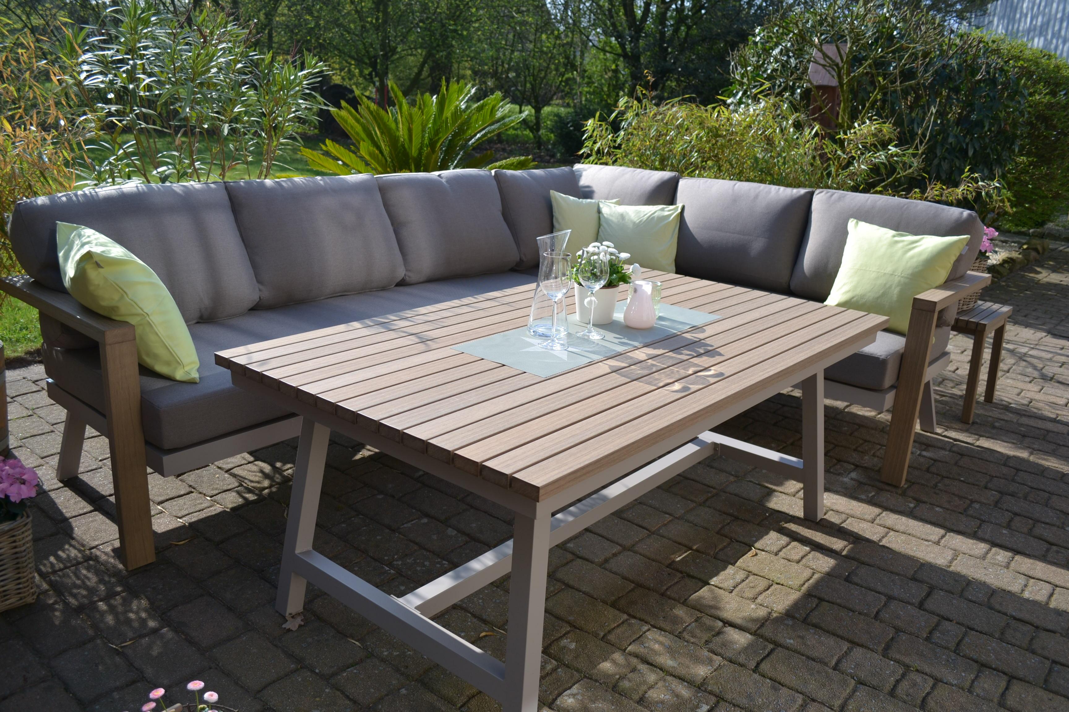 Enviro Wood Ecklounge Mailand + Sessel + Tisch | Bomey ...