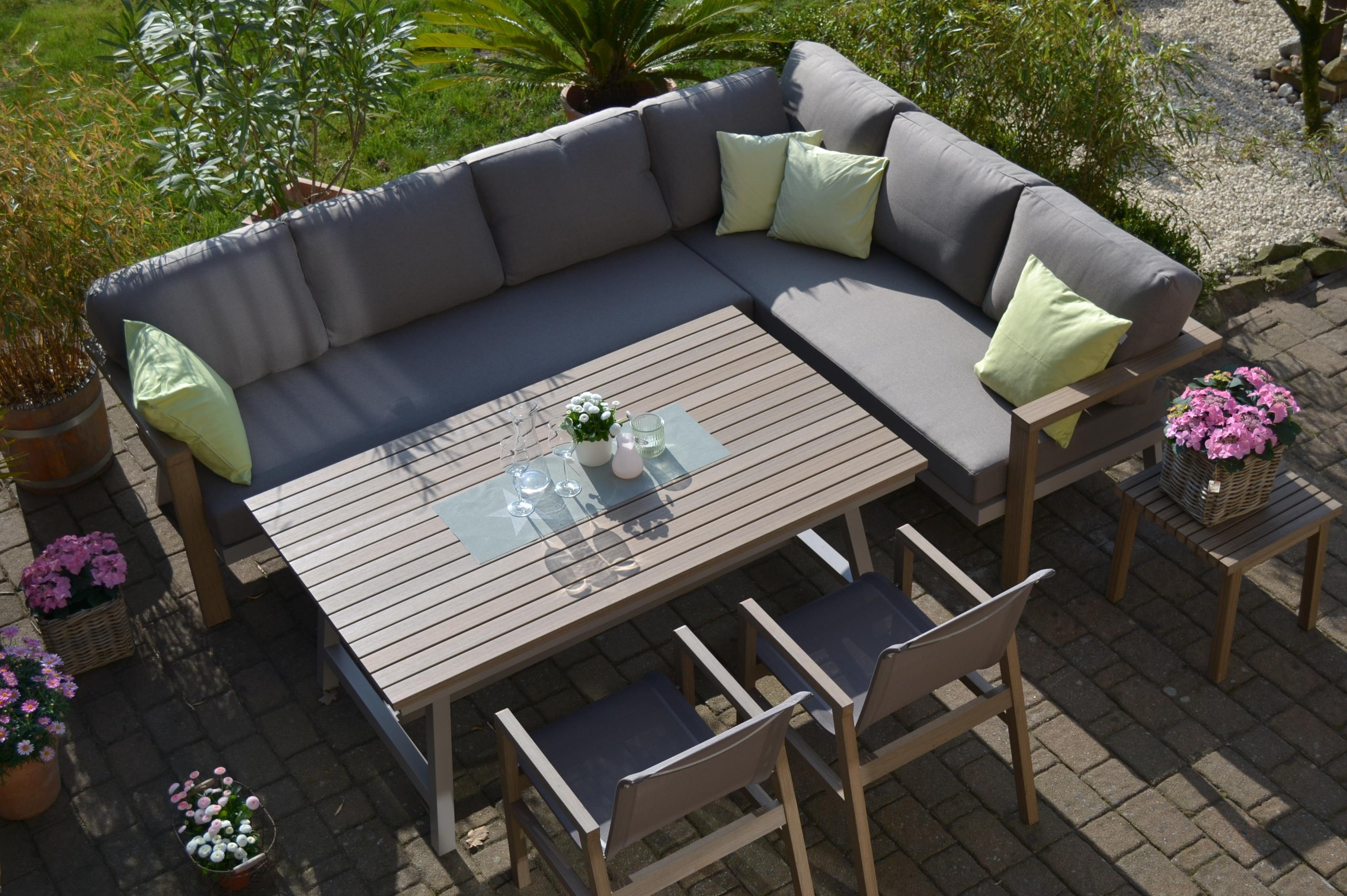 Enviro Wood Ecklounge Mailand + 2 Stühle + Tisch | Bomey ...